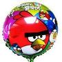 Balão Metalizado Agry Birds Para Mesa 21 Cm C/ Vareta