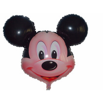 Balão Metalizado Mickey Kit/12 Balões + 12 Minie Laço Rosa