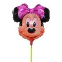 Balão Metalizado Minnie P/ Centro De Mesa Kit 20 Balões
