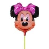 Balão Metalizado Minnie Laço Rosa 32cm - Enfeite De Mesa