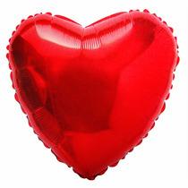 Balão Metalizado Coração Vermelho Pacote 50 Balões Festa
