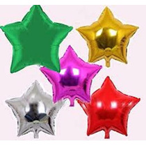 Balão Metalizado Estrelas Para Centro De Mesa Promoção