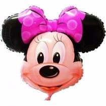 30 Balões Metalizados Minnie 50cm Festa Aniversário Infantil