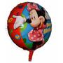 Balão Metalizado Minnie Laço Vermelho Kit Com 10 Baloes