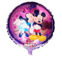 Balão Metalizado Mickey Minie Centro Mesa 21 Cm Com Vareta