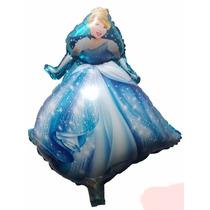 10 Balão Metalizado Princesas Cinderela Gás Hélio Ar Festa