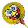 Balão Metalizado Bob Esponja De Mesa 21cm