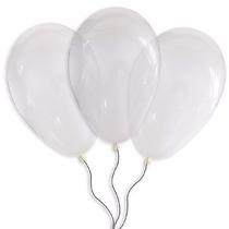 Balões São Roque N° 9 Transparente Pacote Com 50 Bexigas