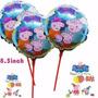Balão Metalizado Peppa 21cm - Enfeite De Mesa - 20 Balões