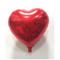 50 Balões Metalizado Coração 18 Polegadas Vermelho
