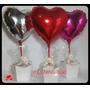 Balão Coração, Enfeite De Mesa Kit Completo C/ 15 Unidades