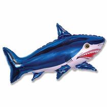 Balão Metalizado Tubarão, Nemo, Golfinho, Peixe Kit/18 Unida