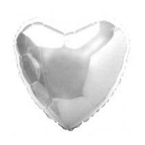 Balão Coração Prateado/vermelho/dourado Metalizado 1 Unidade