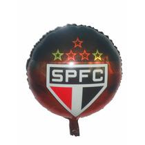 Balão Metalizado São Paulo , Futebol - Kit C/ 12 Balões