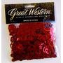 Confete Metalizado Coração - Vermelho