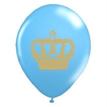 Balão Bexiga Coroa Azul