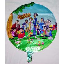 Balão Metalizado Chaves E Companhia Kit 10 Balões- Promoção
