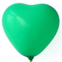 Balão Coração Verde Nº 6 Pacote Com 50 Unidades