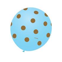 Balão Art-latex Nº9 Azul Poá Marrom - Bexiga Bolinha 25u