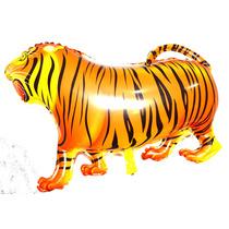 Balão Metalizado Tigre, Safari, Floresta - Kit 25 Balões