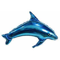 Balão Metalizado Golfinho, Tubarão, Nemo - Kit 50 Balões