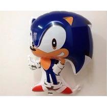 Balão Metalizado Sonic 68x48 Cm (kit C/ 12 Unds)