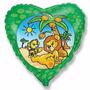 01 Balão Metalizado Rei Leão, Safari, Floresta - Lindo
