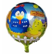 Frete Só R$4,00-pacote 5 Unid Balão Galinha Pintadinha 45cm