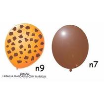 Kit C/ 50 Bexigas N9 Girafa +50 Bexigas N7 Marrom Balonthech