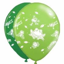 25 Balões/bexigas Estampa Sapinhos