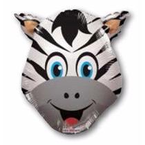 Balão Metalizado Zebra Animais Safari 35cm_centro De Mesa