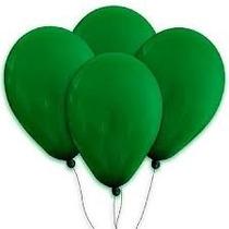 Balões São Roque N° 7 Verde Folha Pacote Com 50 Bexigas