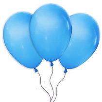 Balões São Roque N° 9 Azul Turquesa Pacote Com 50 Bexigas