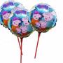 Balão Metalizado Peppa Para Enfeite De Mesa Tam:21cm Kit/20