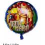 Balão Metalizado Vingadores, Homem De Ferro Kit/18 Unidades