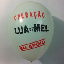 20 Balao/ Bexiga Personalizado Operacao Lua De Mel