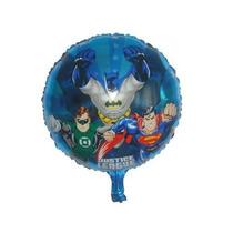 Kit 50un. Balão Metalizado Liga Da Justiça 45x45cm - Atacado