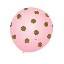 Balão Art-latex Nº9 Rosa Poá Marrom - Bexiga De Bolinha 25u