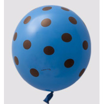 Kit C/ 25 Balão Bexiga N9 Poas Azul E Marrom Sao Roque