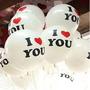 Kit C/ 10 Balões De Latex I Love You Nº12 R$ 19,99