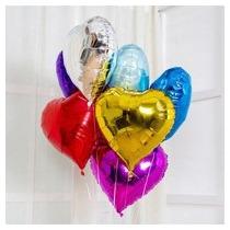 Balão Metalizado 45cm Coração Caixa Com 48 Unidades