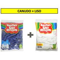 Canudo 9,99 + Liso 5,99 Balão São Roque Nº 7 - 24 Pacotes