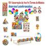 Kit Decoração De Festa Infantil Da Turma Da Mônica + Brinde