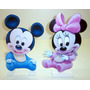 5 Display Turma Disney Baby Mickey Minnie Centro Mesa Festa