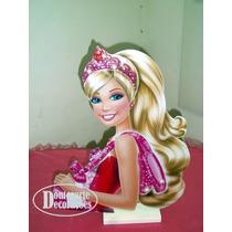 1 Display Busto Barbie Sapatilhas Mágicas 50cm Enfeite Mesa