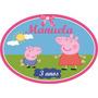 Placa Painel 50x35 Personalizada Peppa Pig Enfeite Parede