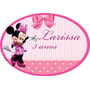 Placa Personalizada Enfeite Parede Minnie Rosa Festa Painél