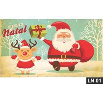 Natal Cristo Papai Noel Painel 3,00x1,70 Lona Festa Comemora