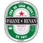 50 Rótulos Personalizados Tipo Heineken Para Garrafas/copos