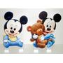 2 Displays Tema Mickey Baby Enfeite Centro Mesa Festa Disney
